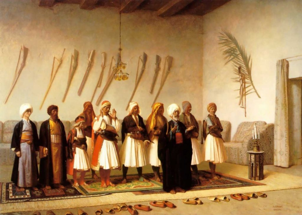 jean-leon-gerome-prayer-in-the-house-of-an-arnaut-chief